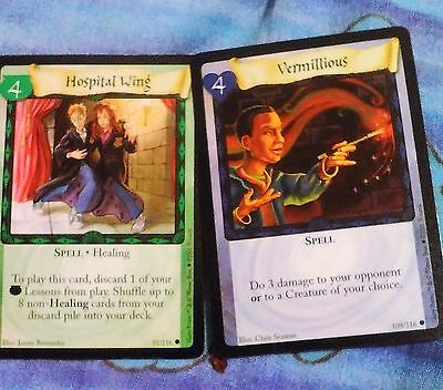 Mint! Harry Potter Trading Card Game 2 Cards Per Sale! #91/116 & #109/116!!