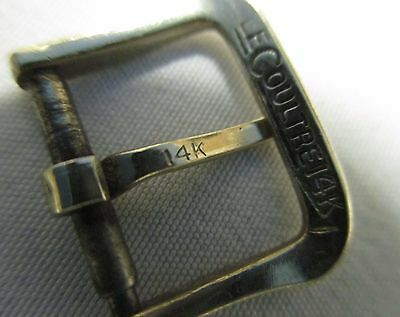 Rare Vintage LeCoultre 14k Gold Swiss Watch Pin/Tang Buckle for 12mm Strap End