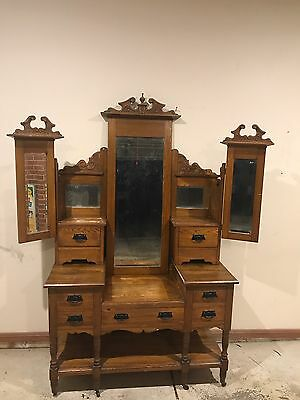 Antique Dresser With Mirrors Beautiful Piece