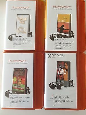 Play away Audio Books - Lot of 4 - no batteries or earphones - ex library