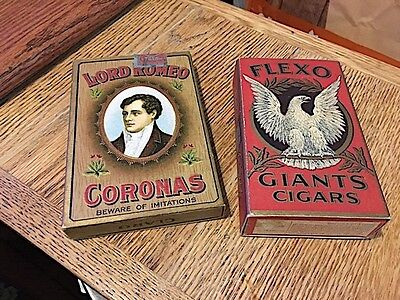 Lot of 2 Unopened Boxes of Commander Brand Cigar Boxes, Circa 1910-20