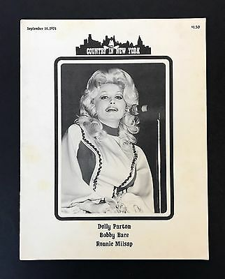Dolly Parton, Bobby Bare, Ronnie Milsap 1974 Country In New York Concert Program