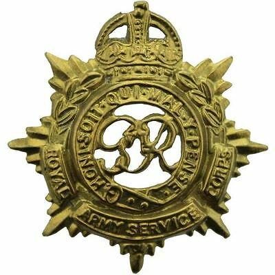 Original WW2 Royal Army Service Corps RASC (George VI) Collar Badge - BB34