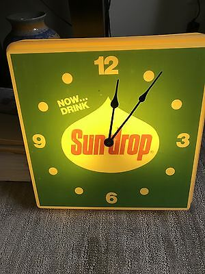 "Vintage Original 1960's or 70's Sundrop Advertising Cock Sign"" Nice """