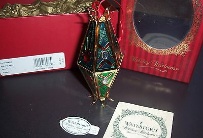 Waterford Renaissance Ashling Spire (Green) Holiday Heirloom Ornament (NIB)