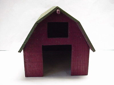 Vintage Wood Horse Barn, Handmade for Train Layout