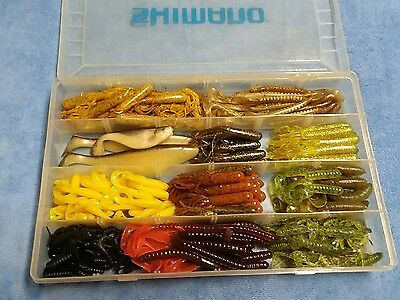Storage box of Assorted Rubber Fishing Lures