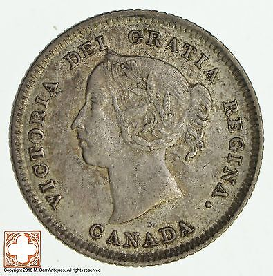 1883 H Canada 5 Cents *8533