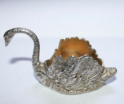Vintage SWAN 800 Silver Salt Cellar 32.46 grams