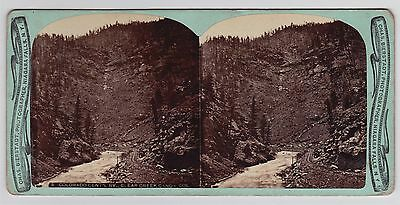 Chas. Bierstadt Colorado Central Railway Clear Creek Canon 1870s RARE Stereoview