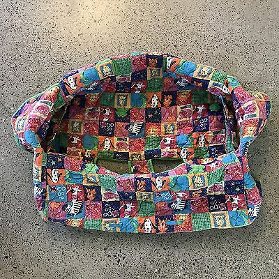 The Clean Shopper - Trolley Protector/Cover - Green Animal Character Print