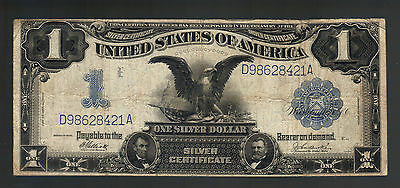 $1 DOLLAR 1899 SILVER Certificate Black Eagle F234 LARGE OLD USA Money Note Bill