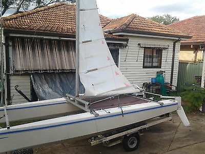 Catamaran Sailing Boat 4Mtrs / 14Ft Complete