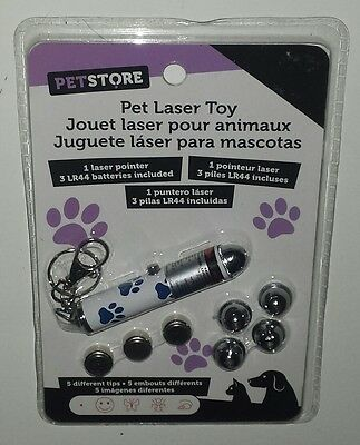 Pet Toy Lazer Pointer with changeable images Battery included Kitten Cat Dog Pup