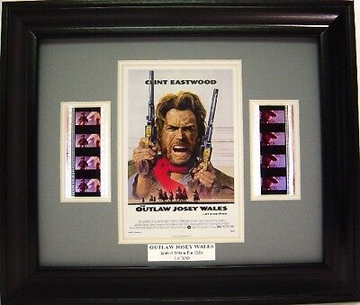 Clint Eastwood Outlaw Josey Wales Framed Movie Memorabilia