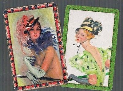 Playing Cards *swap Cards*2 Vintage English Named   People    Pr 1930/40's