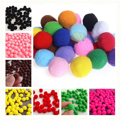 100pcs Fluffy Craft PomPoms Ball 12 color polyester Pom Poms 15mm Diamet DIY CN