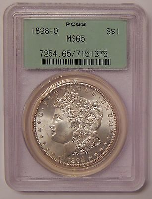 1898-O PCGS MS65 Silver Morgan Dollar 90% Silver $1 Old US Coin Uncirculated