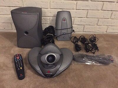 Polycom VSX 7000 Video Conference System w/ Subwoofer Visual Concert Remote