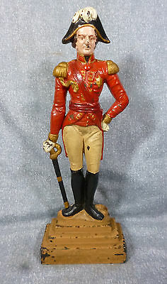 Large Sized Cast Iron French Soldier Doorstop c. 1940's