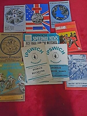 Ipswich v Rochester speedway  programme Plus 9 others