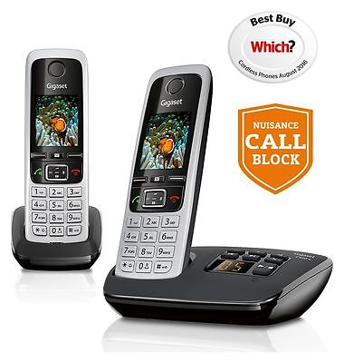 Gigaset C430A Cordless Telephone with Answer Machine -Double