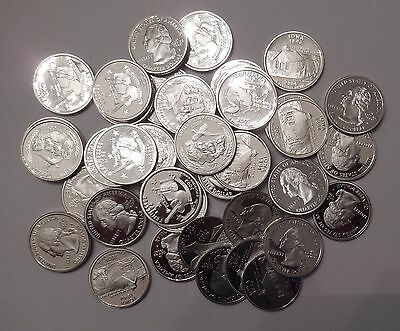 Lot of 40x Proof PF Washington Quarters 90% Silver Mixed Dates San Francisco 01