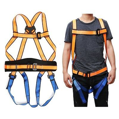 Rock Climbing Harness Rappelling Full Seat Safety Belt Rescue Downhill Equipment
