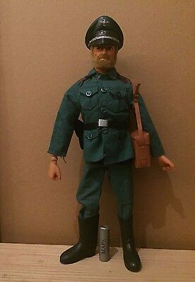 Vintage Action Man Eagle eyes Blonde flocked hair- German Officer