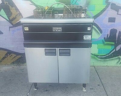 Commercial Gas Double Deep Fryer Restaurant Cafe Pub