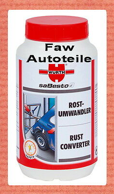 2 x Würth Rust converter Rust remover Rust Remover Rust protection 1 Liter ##