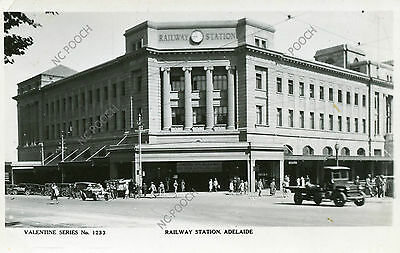 vintage postcard real photo Railway Station Adelaide South Australia CAT CHARITY