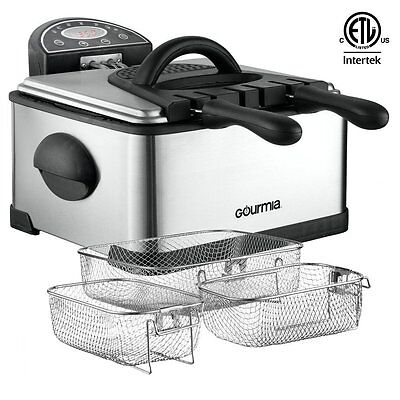 Restaurant Deep Fryer Commercial With Basket Compact Electric Digital Timer NEW