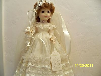 """Effanbee Of New York 18"""" Old Vienna Bride Doll In Box"""