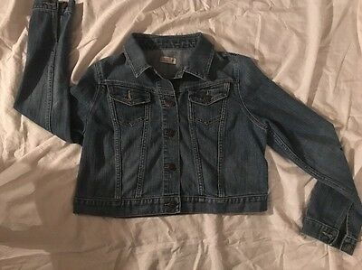 OLD NAVY Maternity Women's Denim Stretch Jean Jacket Size M~ Spring Summer