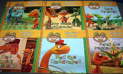 Children's Book Set  of 6 Books - MY FIRST LIBRARY -  DINOSAUR TRAIN set