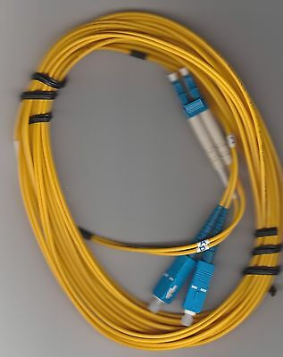 5M LC/SC DX SM 9/125 Yellow, Fiber Optic Patch Cable
