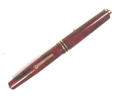 Rare Color Eversharp Equipoise Flamingo Red Vest Pocket Vintage Fountain Pen