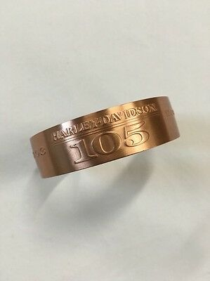 Harley Davidson Motorcycle Collectors Solid Copper Bracelet Cuff 105 Anniversary