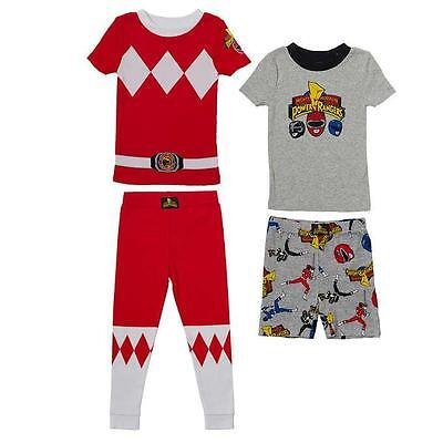 Power Rangers Kids Boys Girls Pajama Set 4-Piece Select Size CHEAP