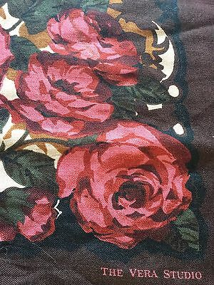 """Vintage Scarf By """" The Vera Studio """" 34 By 34"""""""