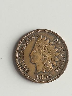 United States Indian One Cent Coin - 1895