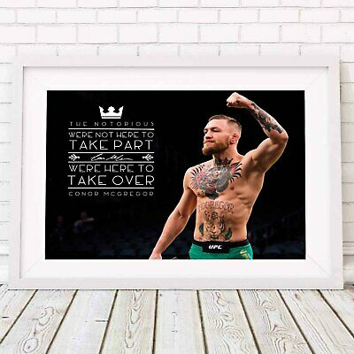 CONOR MCGREGOR - UFC MMA Poster Picture Print Sizes A5 to A0 **FREE DELIVERY**