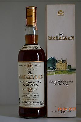 Single Malt Scotch Whisky MACALLAN 12 years old 75cl  with box Giovinetti Import