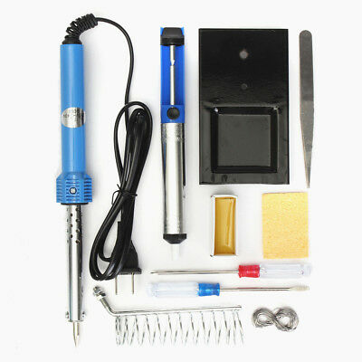 9 in1 60W Stainless Electric Soldering Iron Welding Solder Starter Tool Kit Set