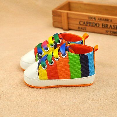 0-6M Baby Infant Boy Girl Toddler Sneaker Anti-Slip Soft Sole Crib Shoes Size S