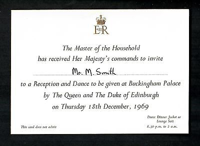 Royal Invitation To Buckingham Palace By The Queen & The Duke Of Edinburgh 1969