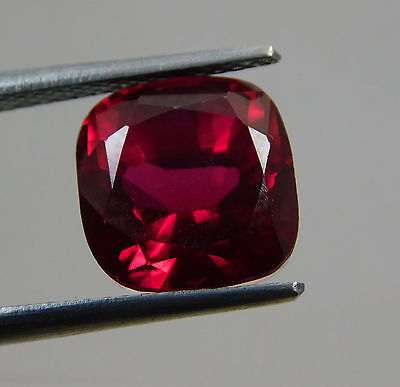 7.55 Cts. Awesome Aaa Cushion Shape Blood Top Red Ruby Loose Gemstone. T850