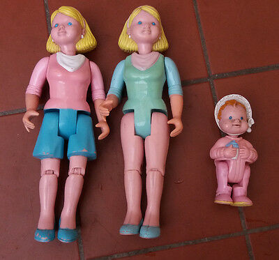 Fisher Price Loving Family  Mother x 2 and Baby Fisher Price 1993-4
