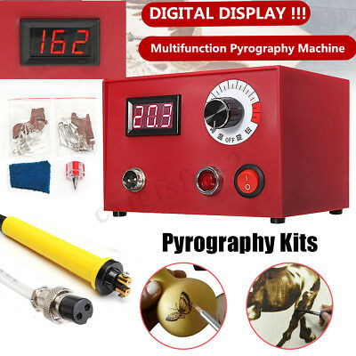 220V Crafts Gourd Wood Multifunction Pyrography Machine Heating Kit Tool 50W